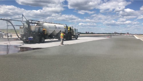 E-Bond Being Laid by Workers at LaGuardia Airport